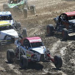 Racers in the Pro Buggy division compete in the Lucas Off-Road races in Tooele on Saturday, June 24, 2017.