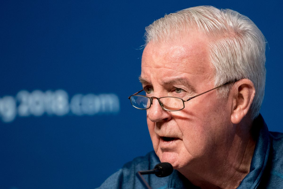 Press conference by WADA President Craig Reedie in Pyeongchang, South Korea