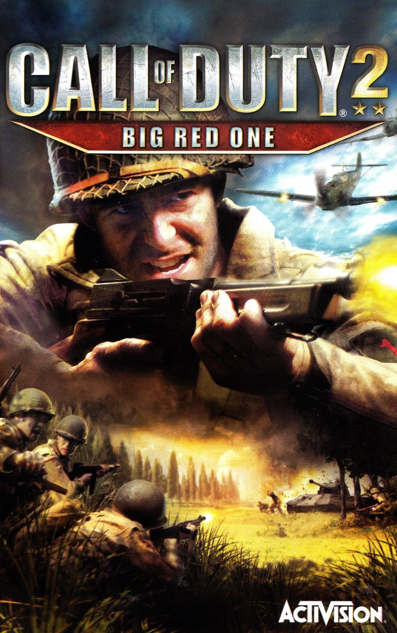 Cover art for the manual packed inside every copy of Call of Duty 2: Big Red One.