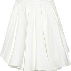 """Band of Outsiders pleated cotton and linen blend skirt, now $174.98 at <a href=""""http://www.theoutnet.com/product/189430?cm_mmc=LinkshareUS-_-J84DHJLQkR4-_-Custom-_-LinkBuilder&siteID=J84DHJLQkR4-3mswgLXukR6PpXRy.rYkow"""">The Outnet</a>"""