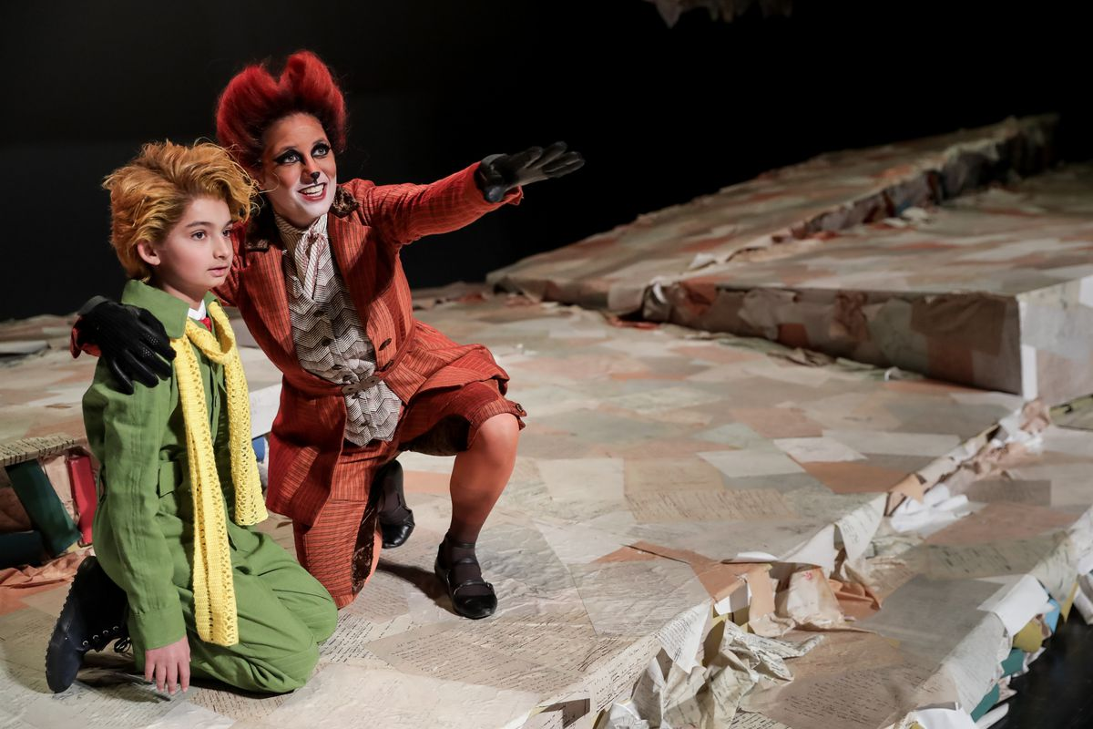 "Nitai Fluchel, 11, playing the little prince, and Melanie Ashkar, playing the fox, pose during a photo opportunity for Utah Opera's upcoming production of ""The Little Prince"" at the Capitol Theatre in Salt Lake City on Wednesday, Jan. 9, 2019. ""The Little Prince"" is now available for streaming."