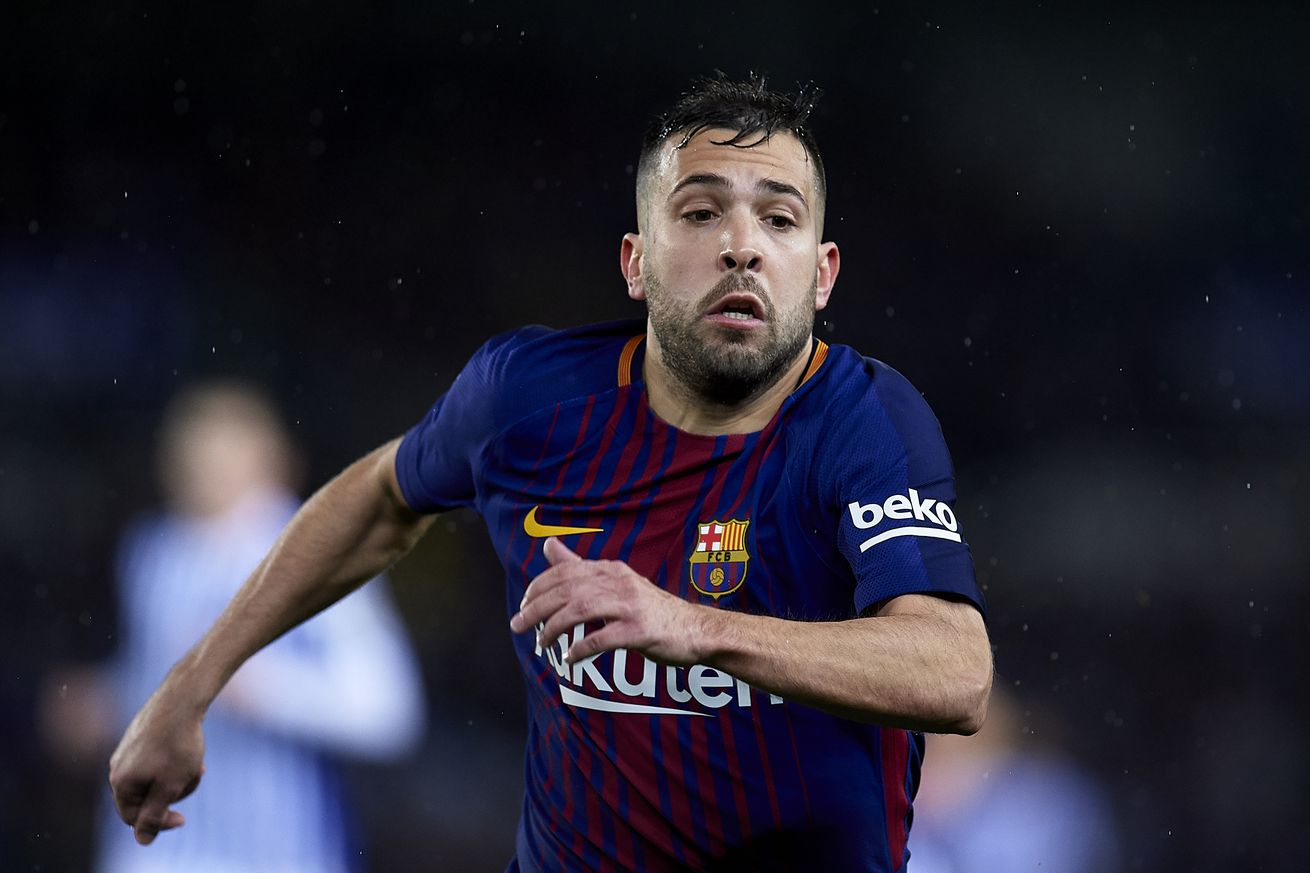 Jordi Alba apologises for middle finger gesture during Barcelona?s win over Real Sociedad