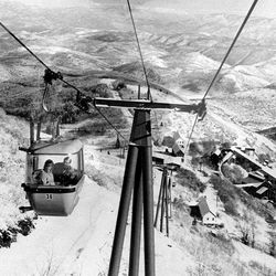 Historical file photo provided by Park City shows old gondola cars.