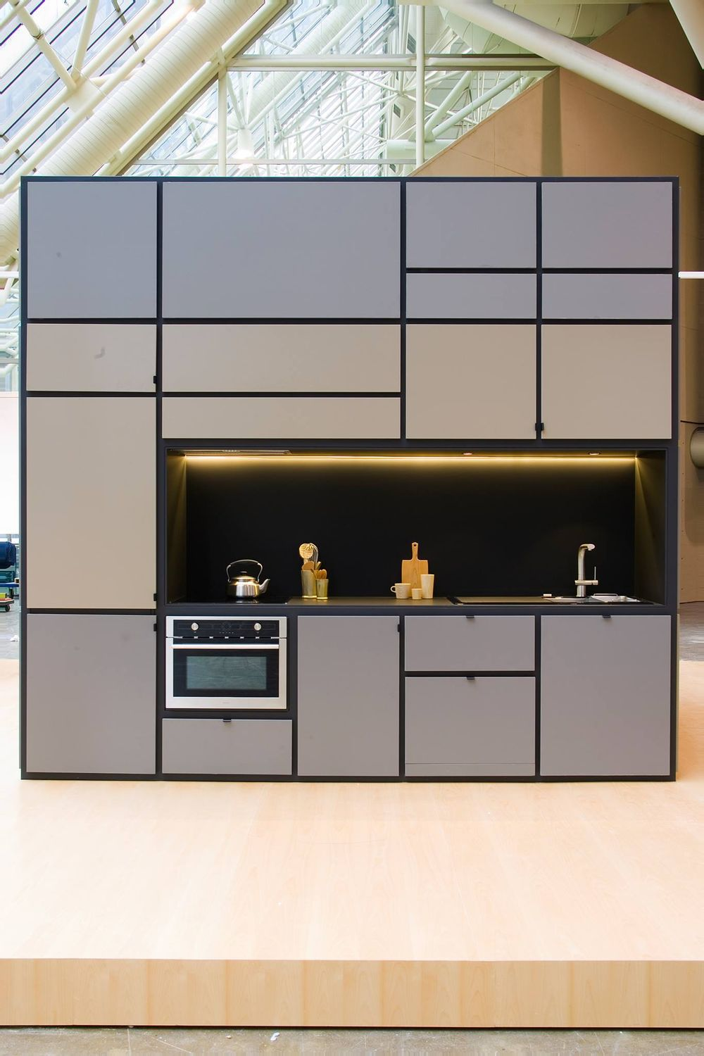 Unveiled At Toronto S Interior Design Show In 2017 Cubitat Is An Entire Apartment Kitchen Bathroom Bedroom Entertaining Area Storage