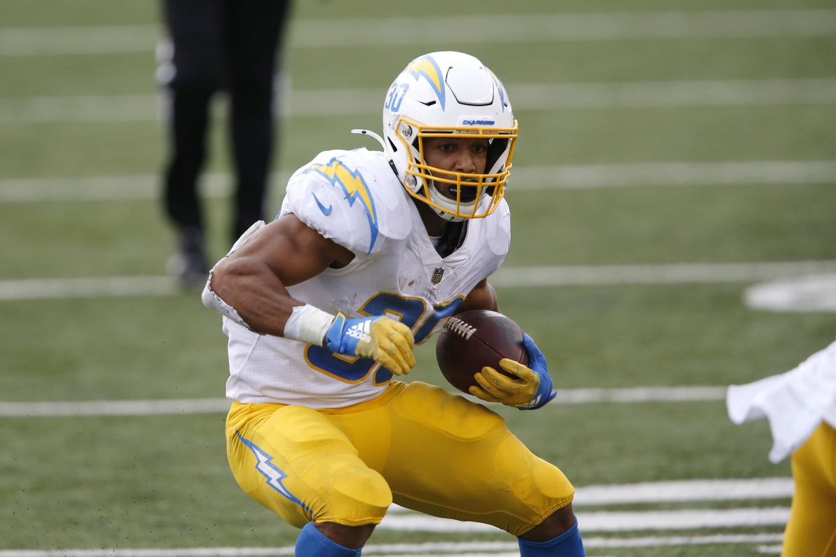 Los Angeles Chargers running back Austin Ekeler during the second half against the Cincinnati Bengals at Paul Brown Stadium.
