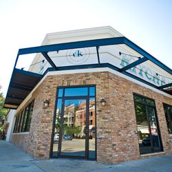 Welcoming exterior, sidewalk patio will be set up along the restaurant