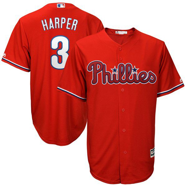 e53cf462a Bryce Harper Majestic Official Cool Base Player Jersey - Scarlet for   119.99 Fanatics