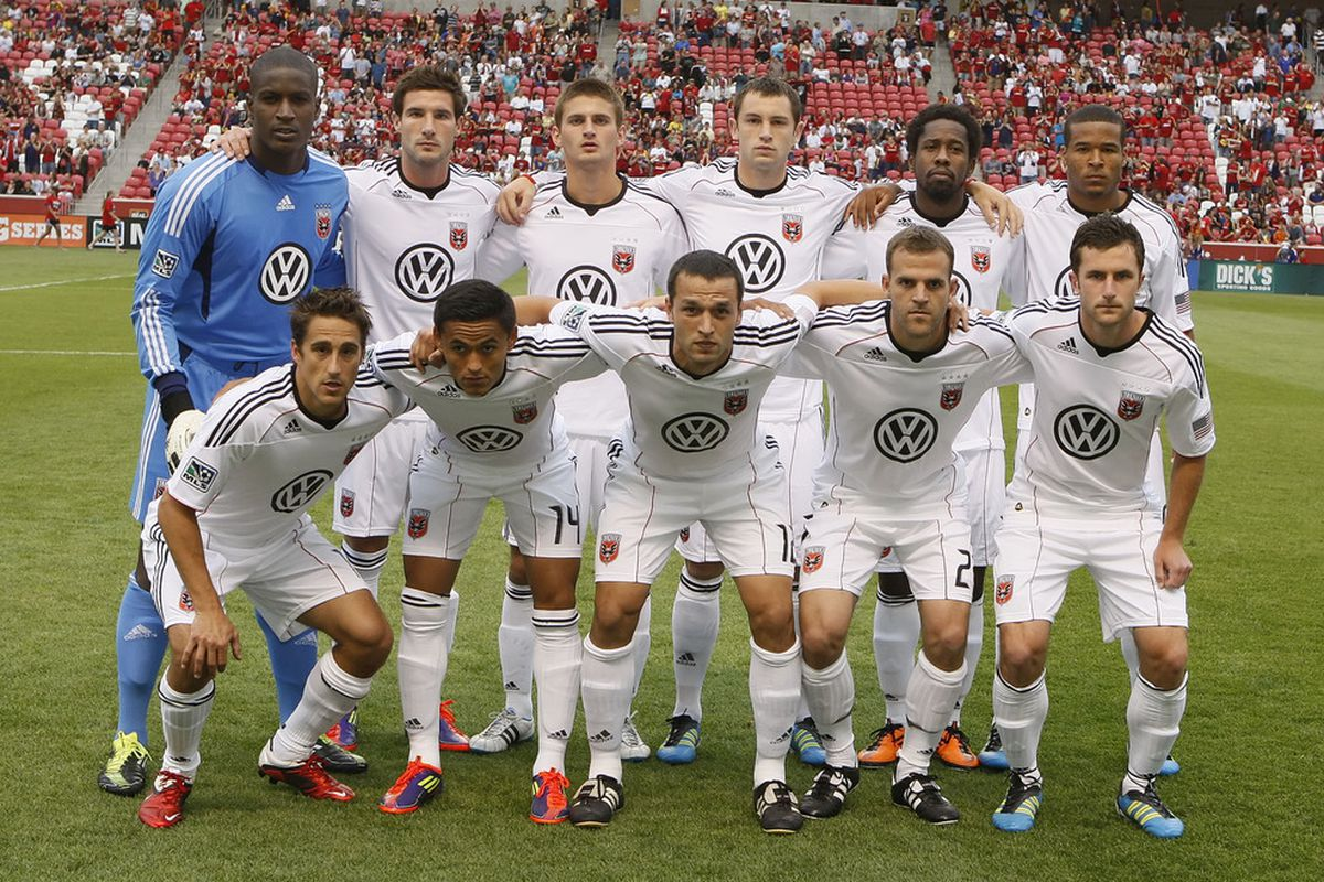 SANDY, UT - JUNE 18: Players of  DC United pose for a team picture before a game against Real Salt Lake at an MLS soccer game June 18, 2011 at Rio Tinto Stadium in Sandy, Utah.(Photo by George Frey/Getty Images)