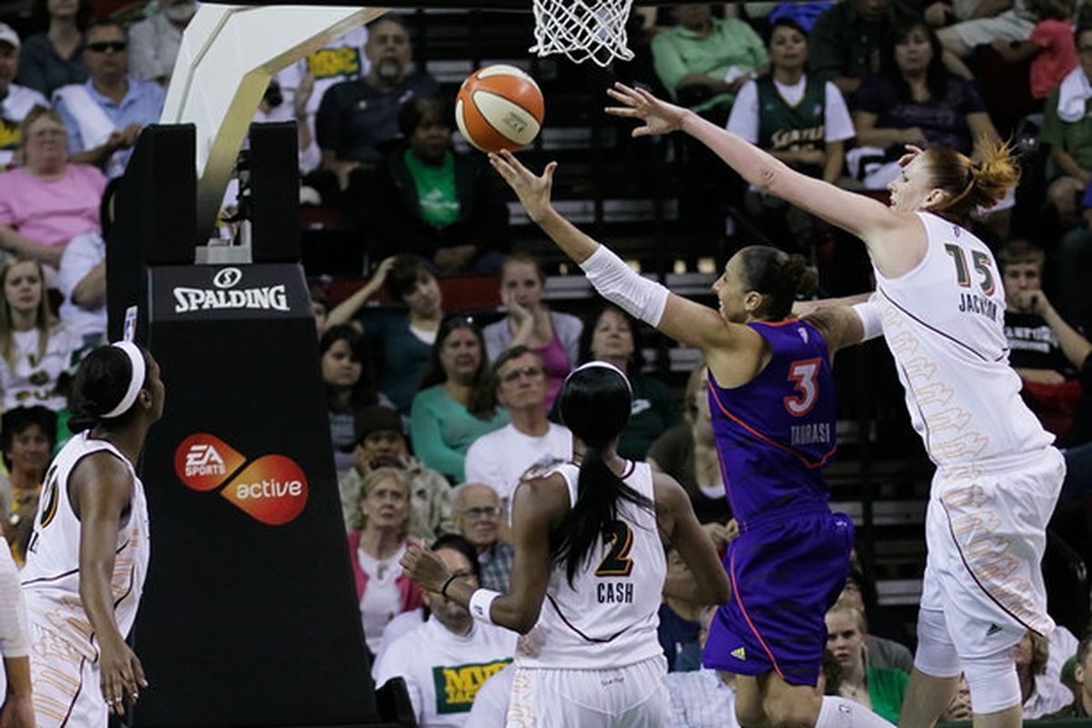 """The focus of Game One has been Diana Taurasi's shooting struggles, but there's more than one thing that could for the better in Game Two. <em>Photo by <a href=""""http://www.kailasimages.com"""" target=""""new"""">Kailas Images</a>.</em>"""