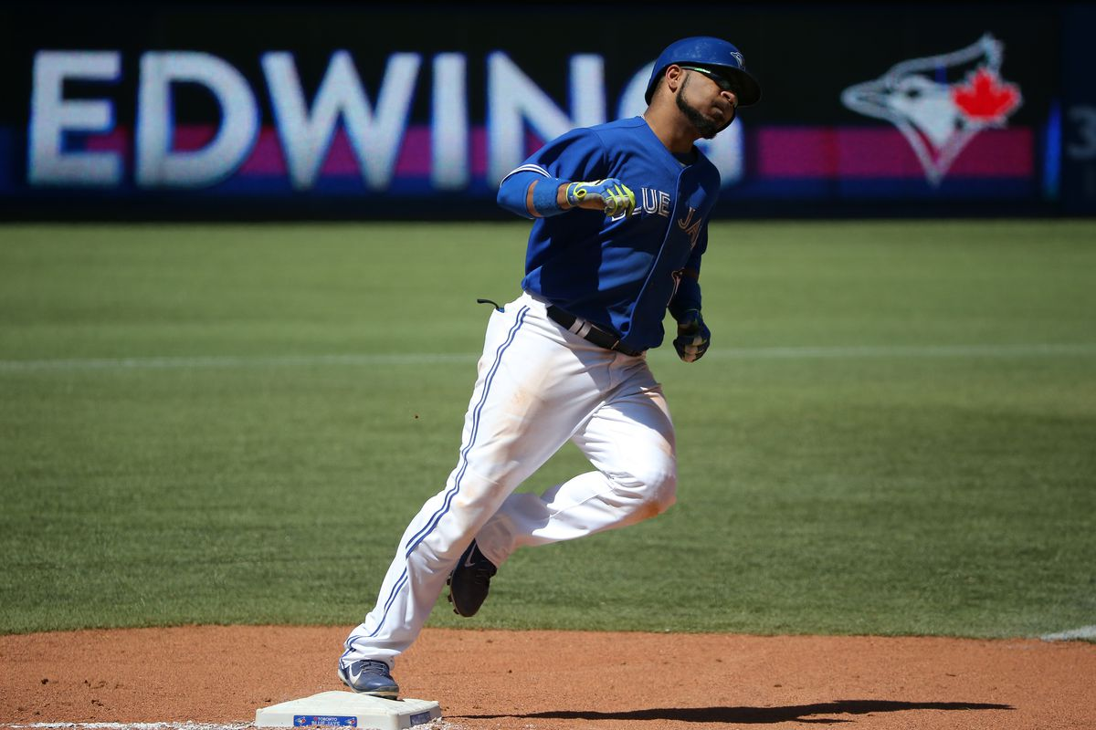 Edwin Encarnacion rounds the bases. Saw a lot of that this week.