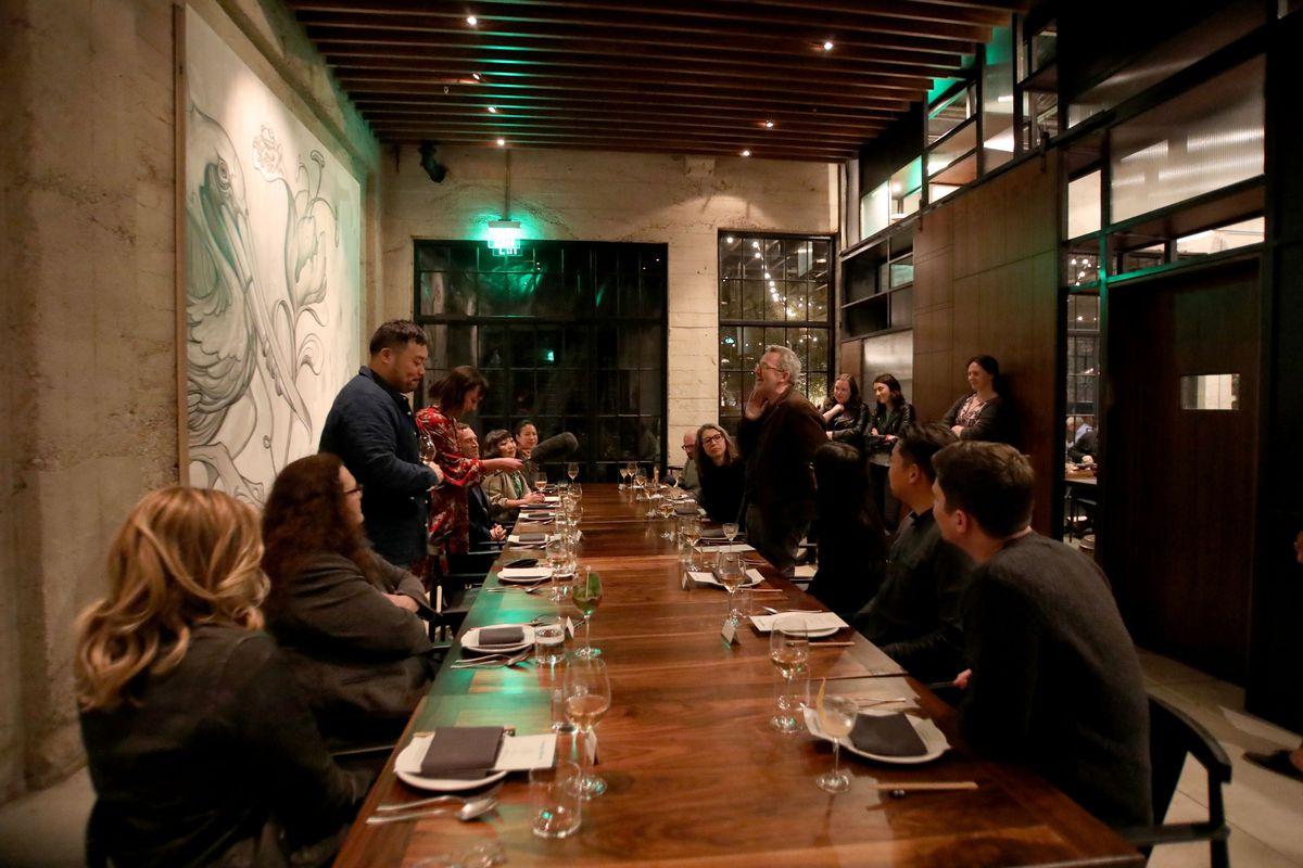 Ugly Delicious Dinner Party At Majordomo in Los Angeles, CA
