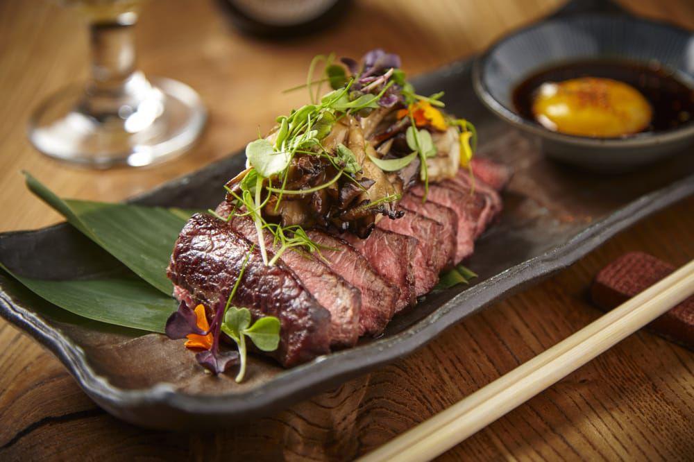 Wagyu steak at Roka Akor