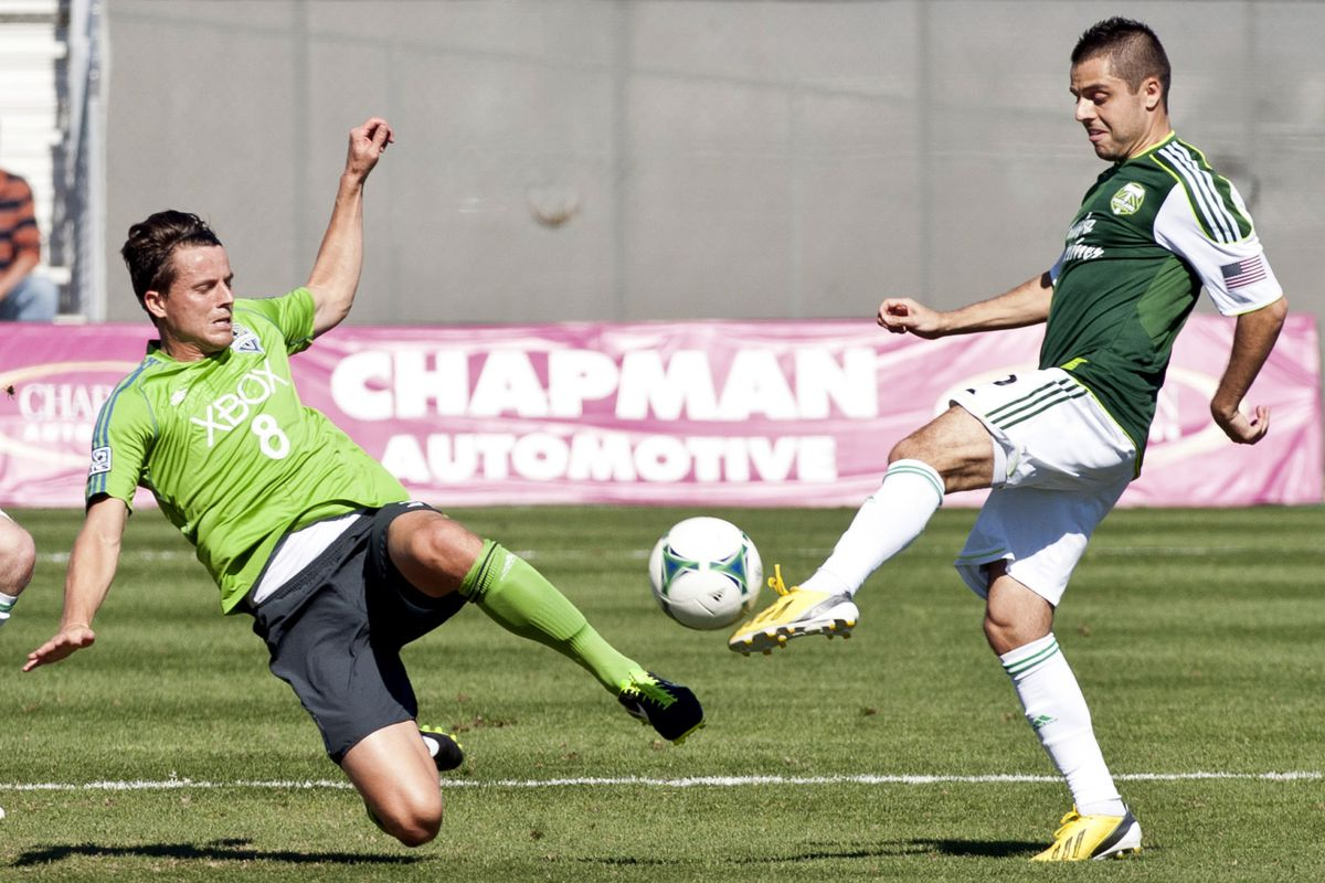 During last week's preseason match the Sounders wore their training kits.