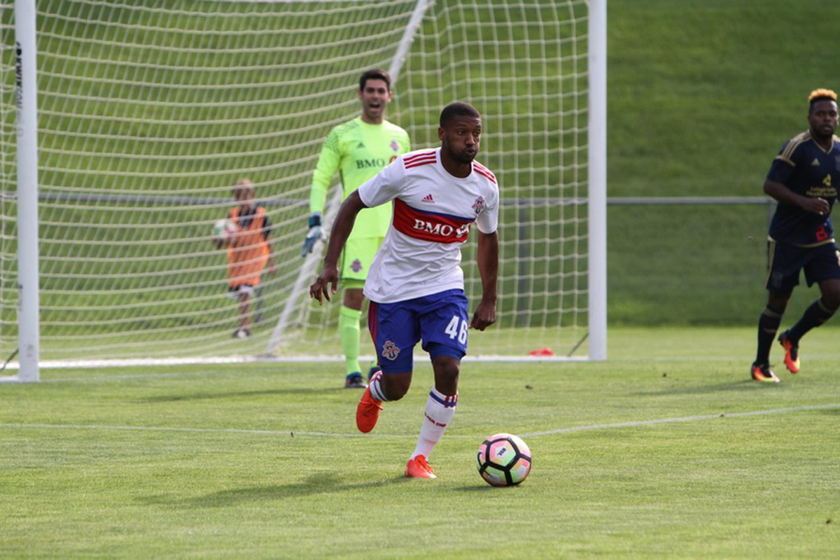 USL Photo - TFC II's Jordan McCrary gets on the ball in a 3-1 loss away to Bethlehem Steel FC