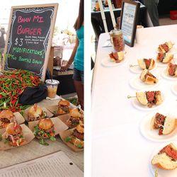 <em>Burger offerings from Whiskey Cake and Asador. [Photos: Margo Sivin/EDFW]</em>