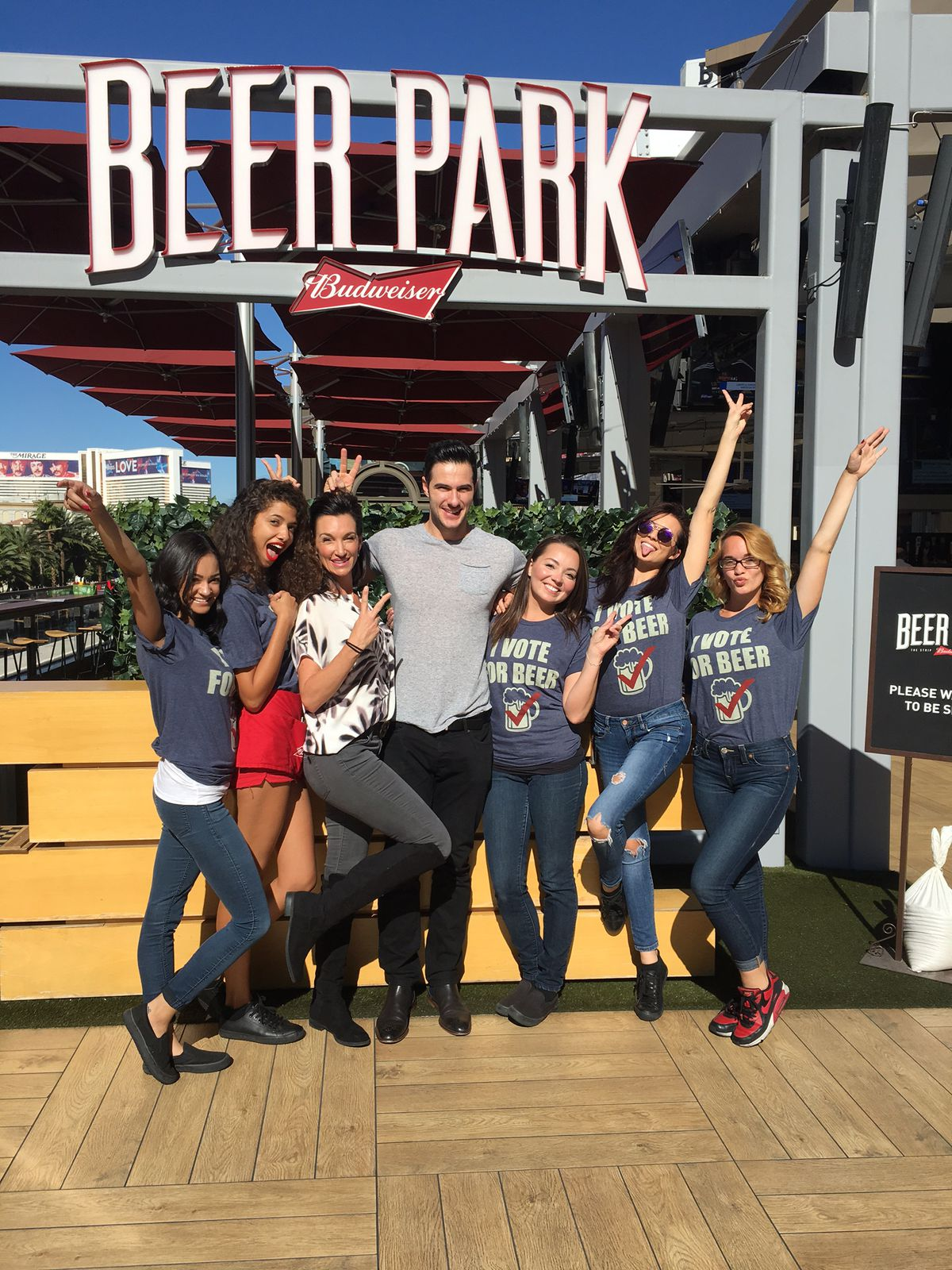Daniel Maguire with the Beer Park staff