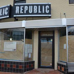 Republic's entrance.