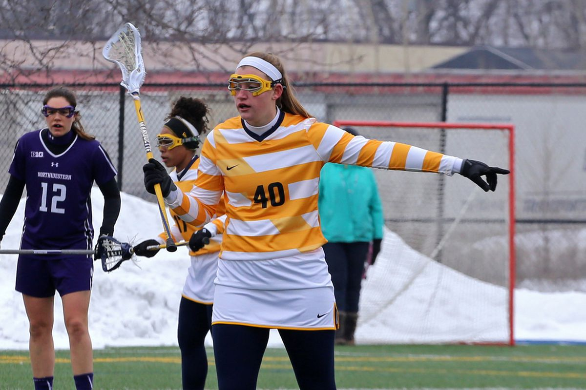 Allison Lane had a goal in the early going vs Notre Dame.
