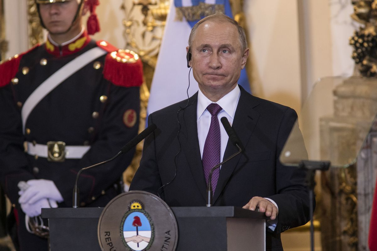 Russian President Vladimir Putin on December 1, 2018.