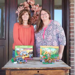 Sisters Melissa Muhlestein and Betsey Hurren came together to create Scripture Stackers, which are block sets based on stories from the scriptures.