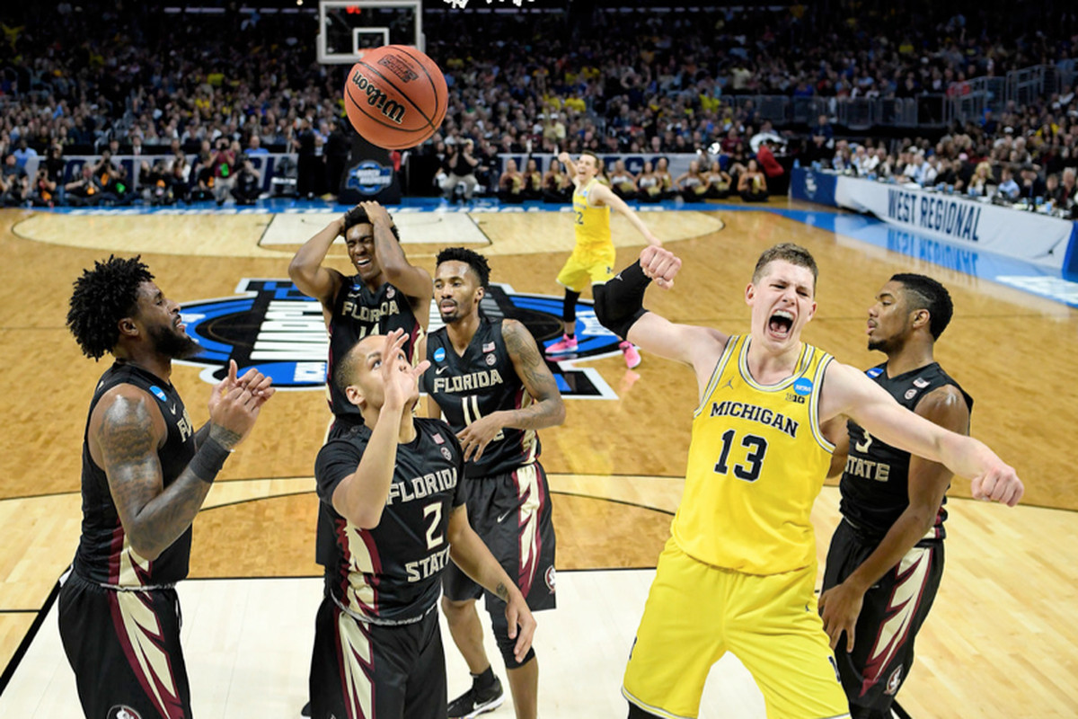 d0d3c1260fd Michigan forward Moritz Wagner celebrates after scoring against Florida  State on Saturday.