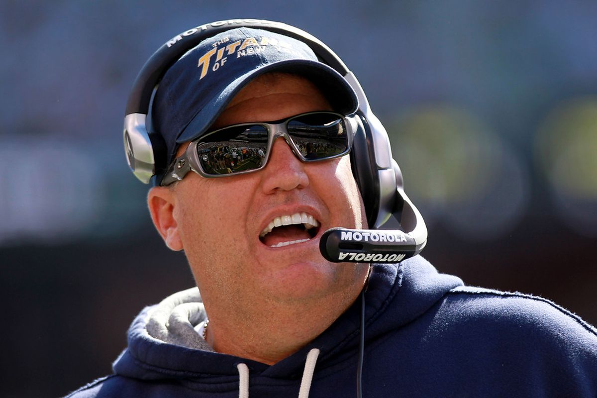 EAST RUTHERFORD, NJ - SEPTEMBER 18:  Head coach of the New York Jets, Rex Ryan on the sideline against the Jacksonville Jaguars at MetLife Stadium on September 18, 2011 in East Rutherford, New Jersey.  (Photo by Nick Laham/Getty Images)