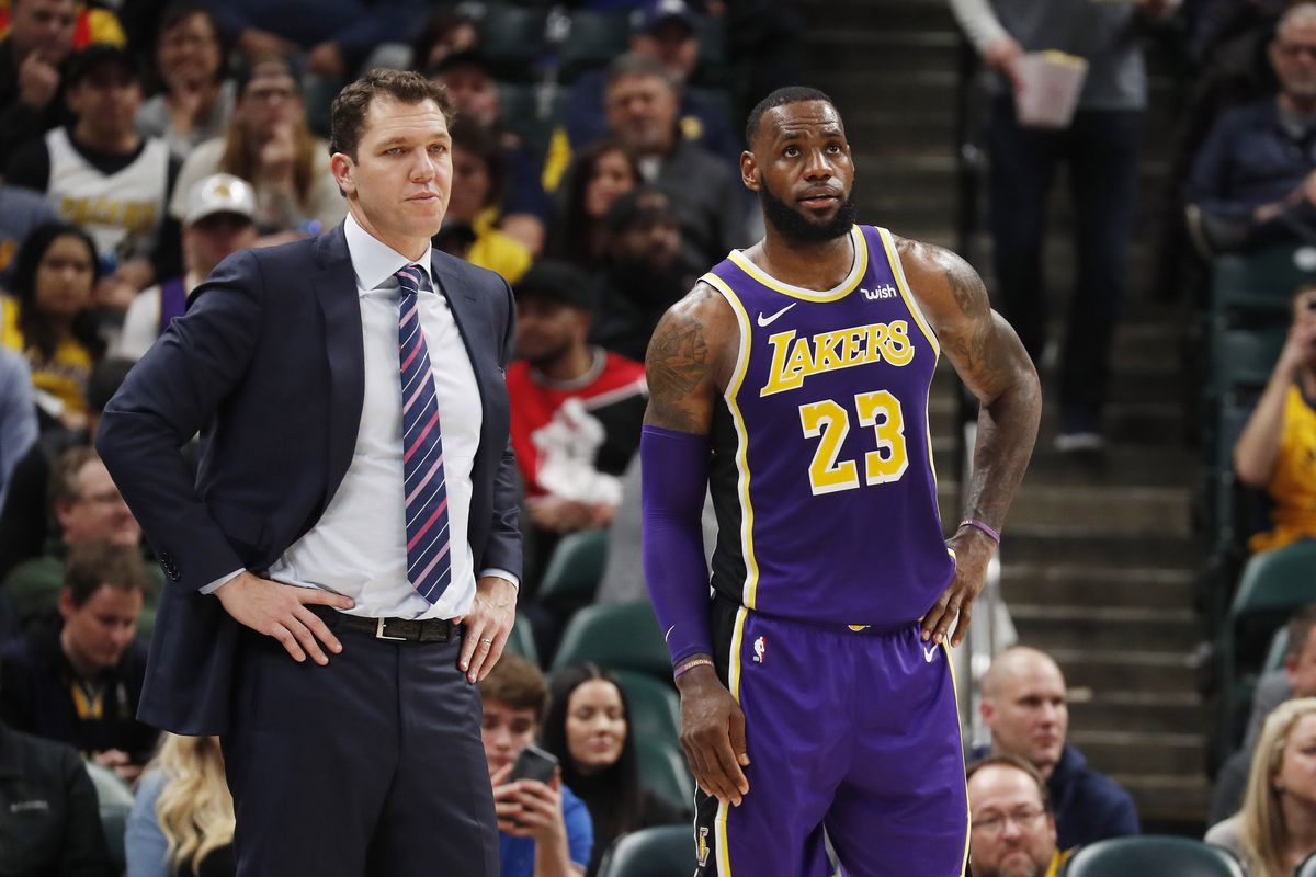 5d6702e48eb5 Luke Walton agrees with LeBron James that playoff expectations are  new   for some of younger Lakers