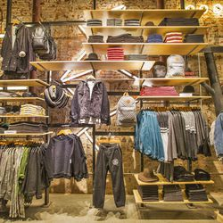 More men's gear, featuring everything from Stussy to Levi's.