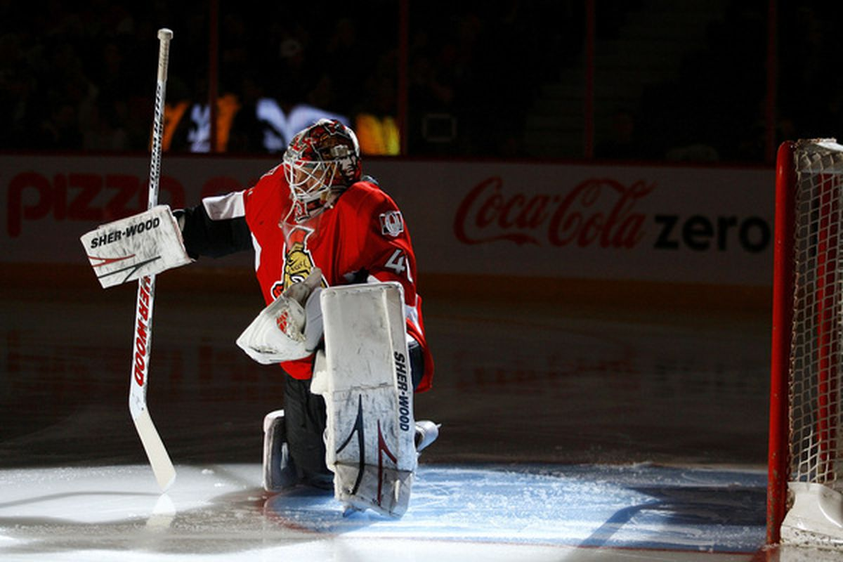 Robin Lehner is going to try and make things difficult for Bryan Murray. (Photo by Phillip MacCallum/Getty Images)