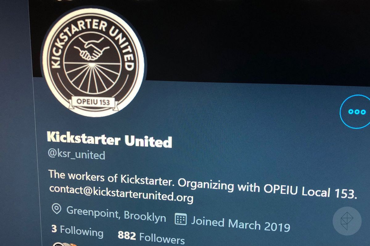The Twitter account for Kickstarter United shows less than 1,000 followers.