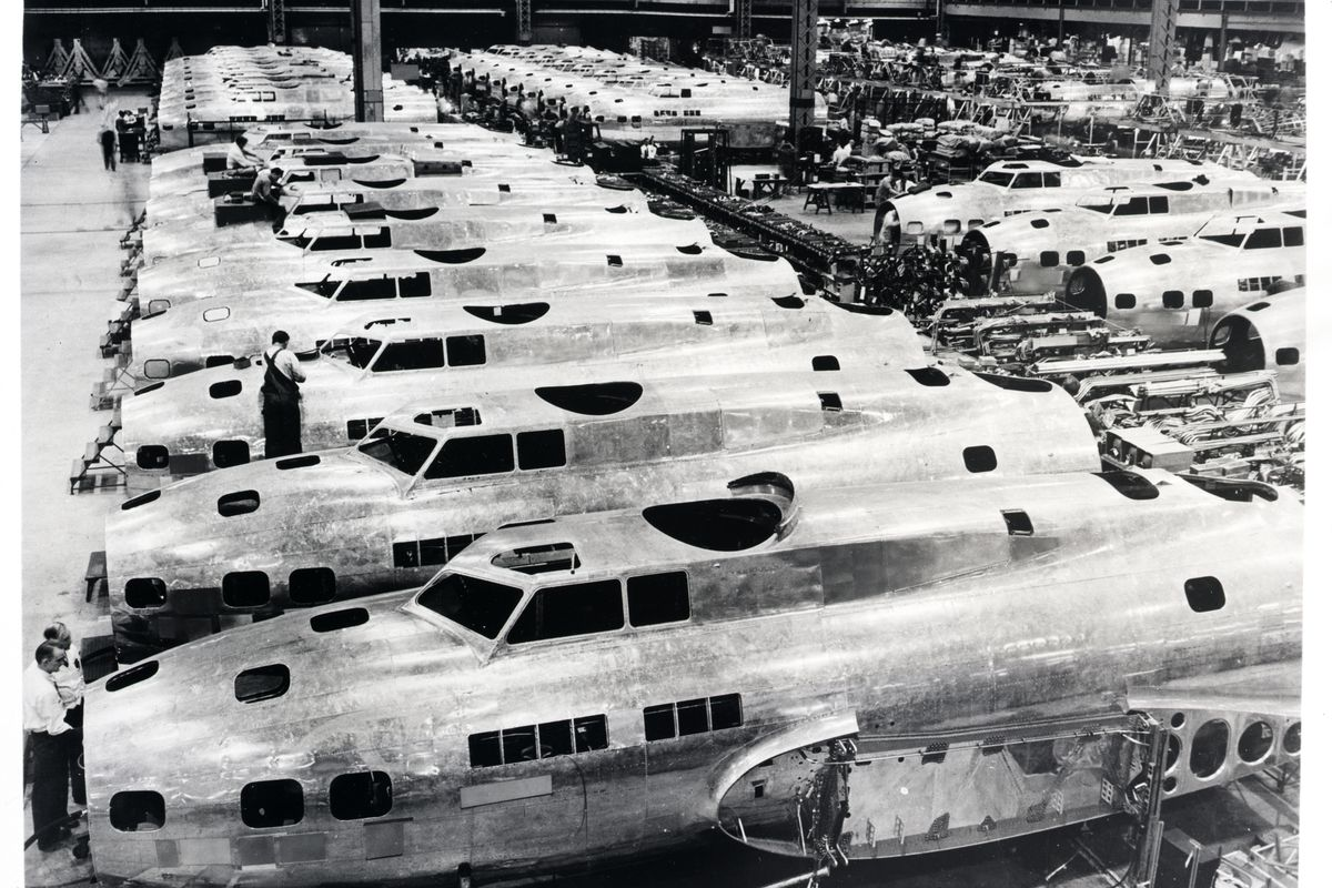 Boeing B-17 Flying Fortress Assembly Line