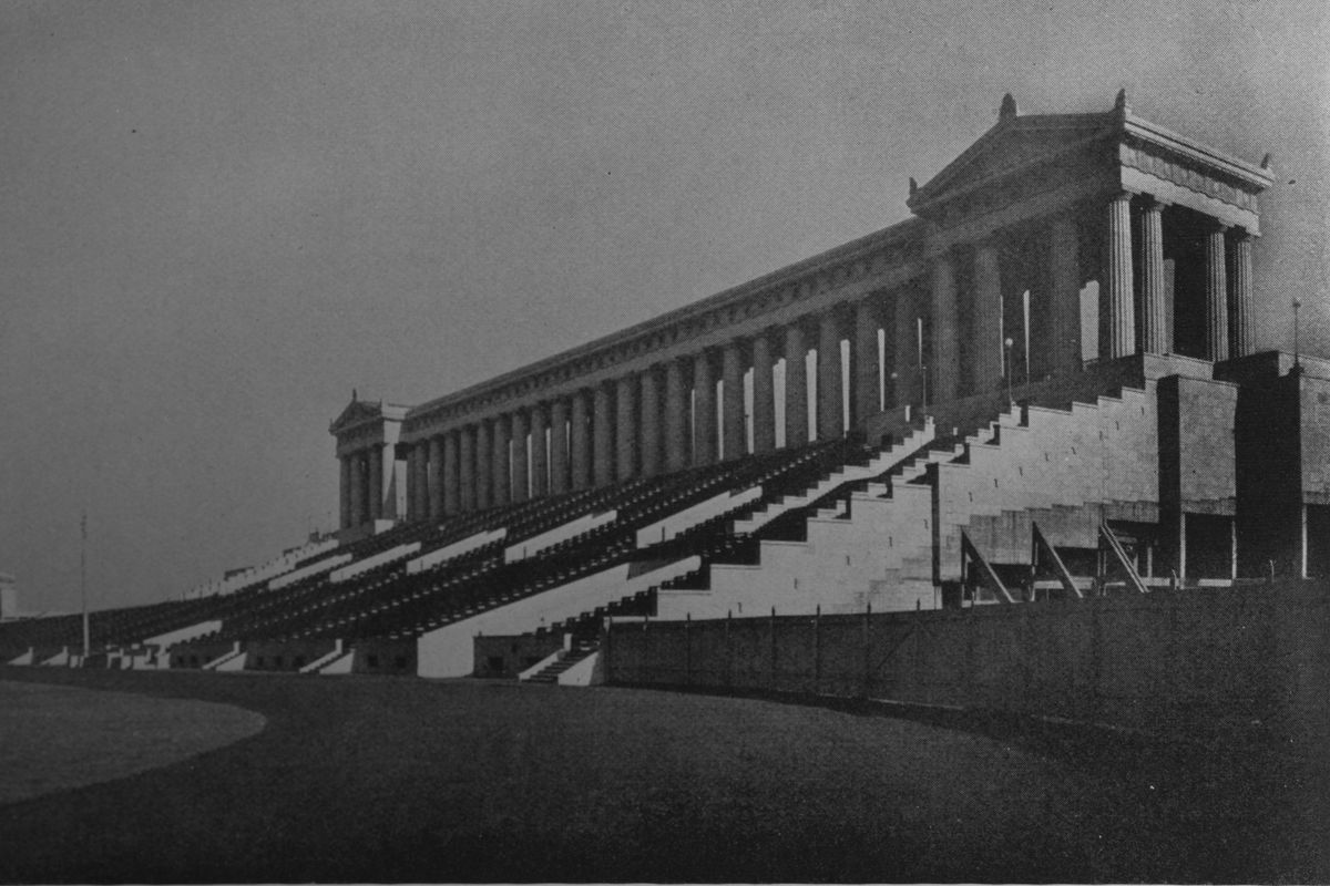 View Of The North Stand, Municipal Grant Park Stadium, Chicago, Illinois, 1925