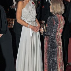 Wearing a Grecian-inspired Jenny Packham gown at a charity dinner at St James's Palace on November 10th, 2011.