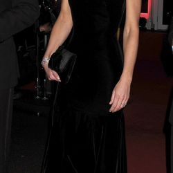 Dressed in a velvet Alexander McQueen gown at the Imperial War Museum for The Sun annual 'Millies' awards on December 19th, 2011.