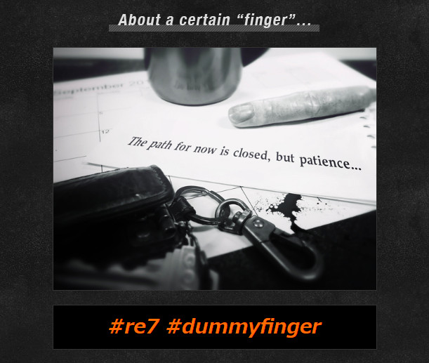 resident evil 7 finger