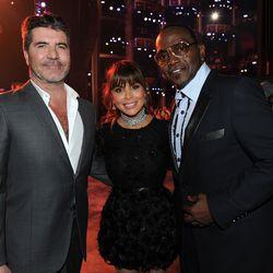 Simon Cowell, Paula Abdul, and Randy Jackson