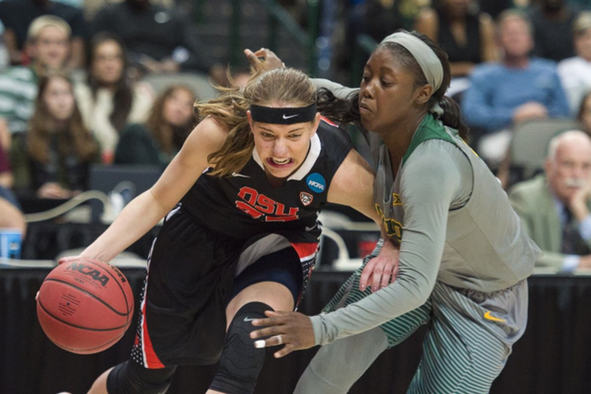 Sydney Wiese and Oregon State fought their way past Baylor (and Alexis Jones) to the Final Four.