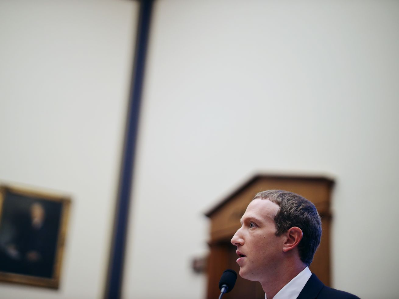 Facebook co-founder and CEO Mark Zuckerberg testifies before the House Financial Services Committee in October 2019.