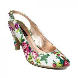 """Material Girl Truffle Floral Print Pump, $29 at <a href=""""http://www1.macys.com/catalog/product/index.ognc?ID=553808&CategoryID=48530#fn=sp=1&spc=173"""" rel=""""nofollow"""">Macy's</a>"""