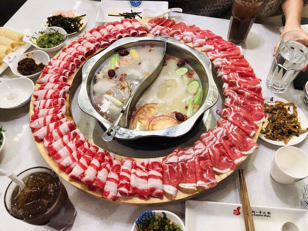 Liuyishou hotpot's meat wheel
