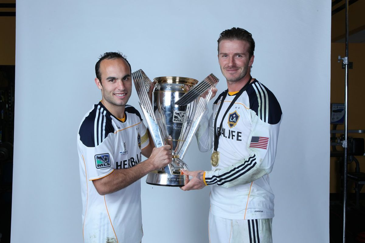 Landon and David with MLS Cup