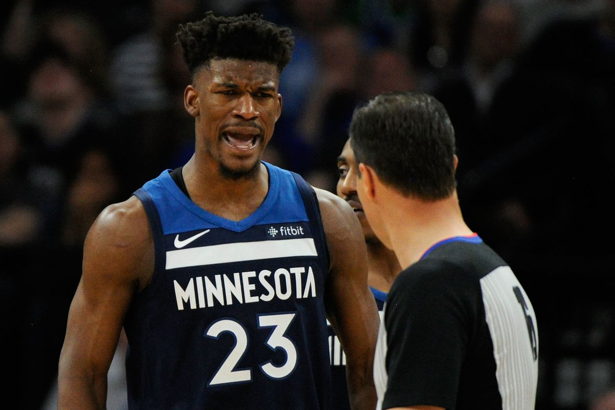 official photos e8d0b 66bbe Jimmy Butler trade: Wolves All-Star returns to practice and ...