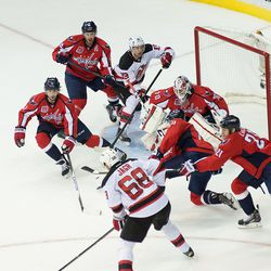 Capitals and Devils in and Near the Crease