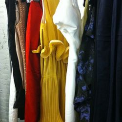 False alarm, that mustard pleated frock has nasty pen marks all over the bodice. Heartbreaking!