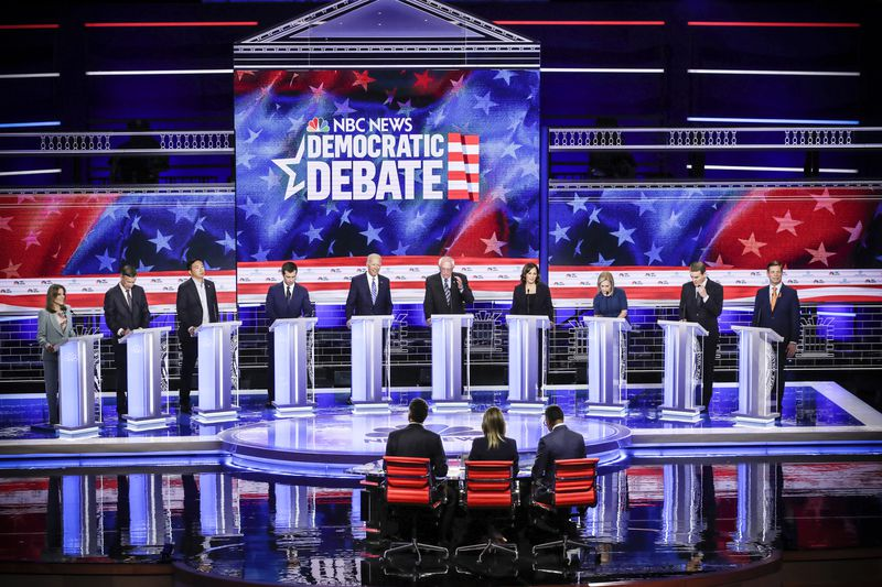 A field of 20 Democratic presidential candidates was split into two groups of 10 for the first debates of the 2020 election.