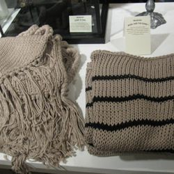 A scarf and sweater from Wool and the Gang