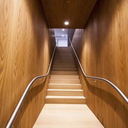 A flight of stairs leads to the second floor of the sales office where you get a sense what an apartment at Jardim will be like.