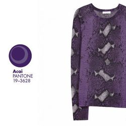 "<b>Equipment</b> Sloan Crew in Purple Haze Python, <a href=""http://www.equipmentfr.com/femme/sweaters/sloane-crew-purple-haze-python-print"">$298</a>"