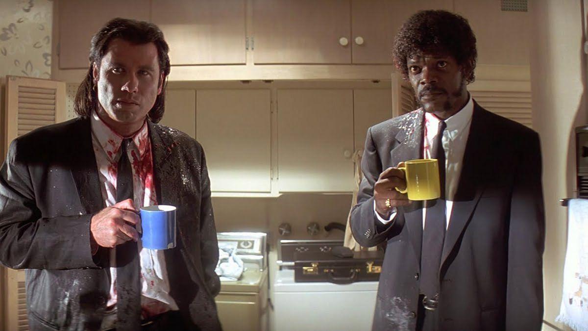 John Travolta and Samuel Jackson in Pulp Fiction