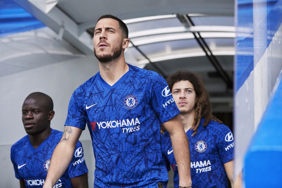 Chelsea introduce 2019-20 home kit with Eden Hazard front